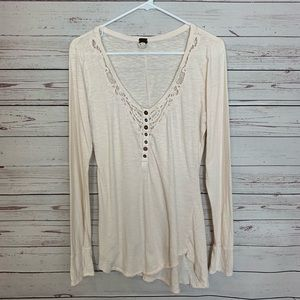 Free People We The Free Long Sleeve Tee Size L !